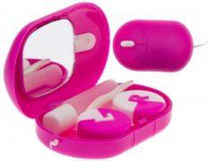 Дорожный набор для мягких контактных линз А 8117 (розовый)
